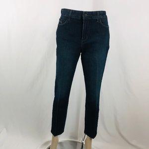 NYDJ Mid Rise Ankle Crop Skinny Jeans Sz 12